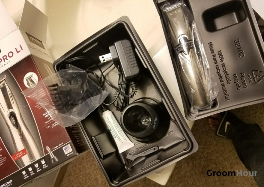 Andis Slimline Pro Lithium Ion T-blade Trimmer unboxing