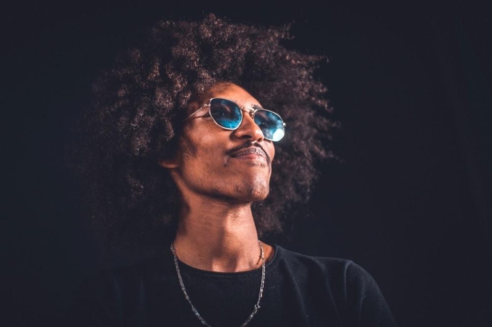 Black male curly hair