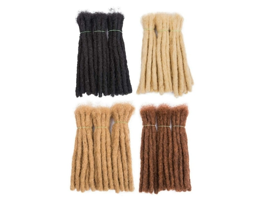 DAIXI 30 Strands Human Hair Dreadlock Extensions for Men