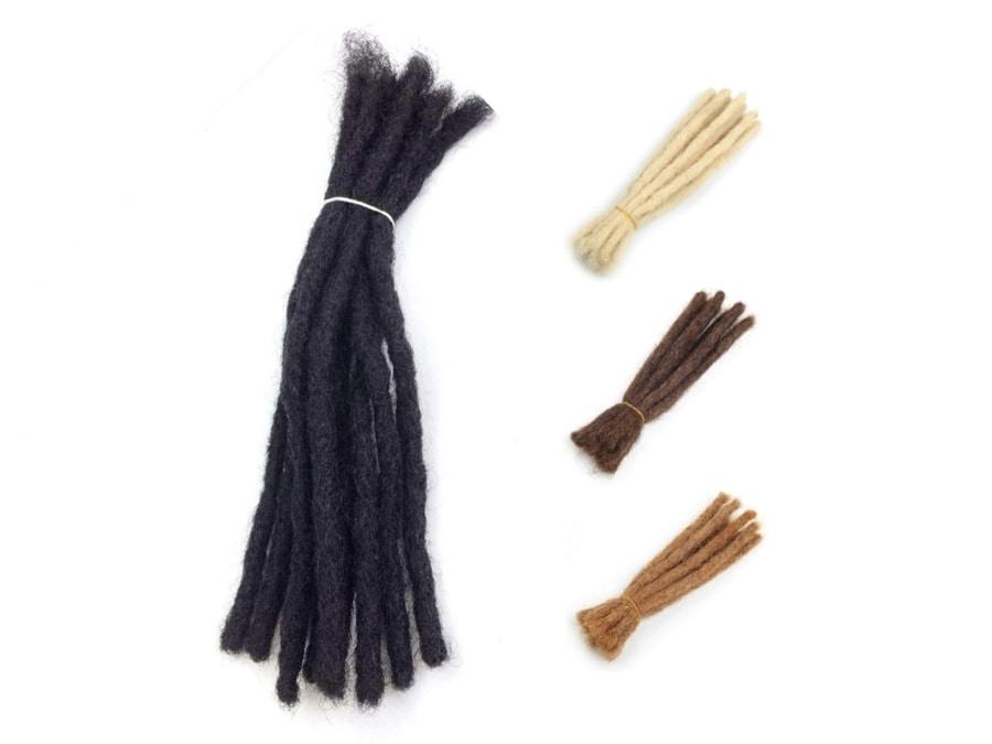 MOREYOUNGC Human Hair Dreadlocks Extensions