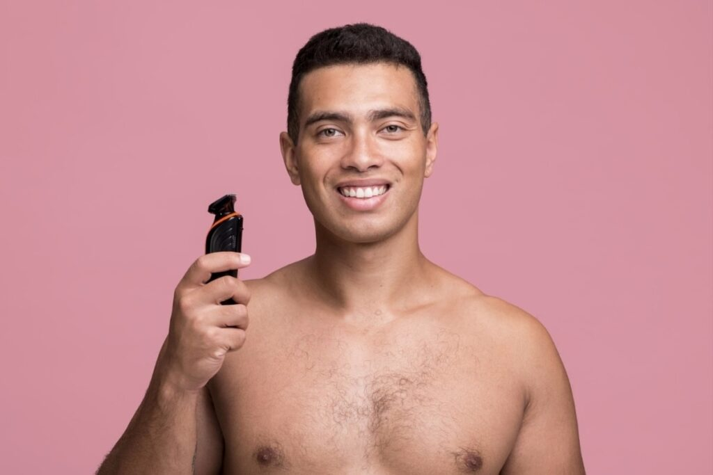 A man with the best trimmer for balls
